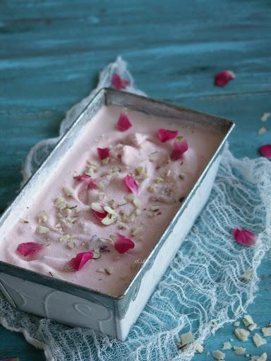 rose flavoured ice cream