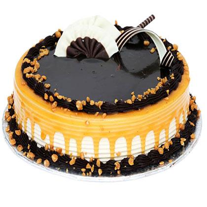 Caramell chocolate cake