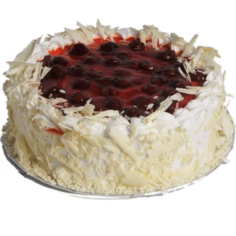 Cherry cream gateaux cake