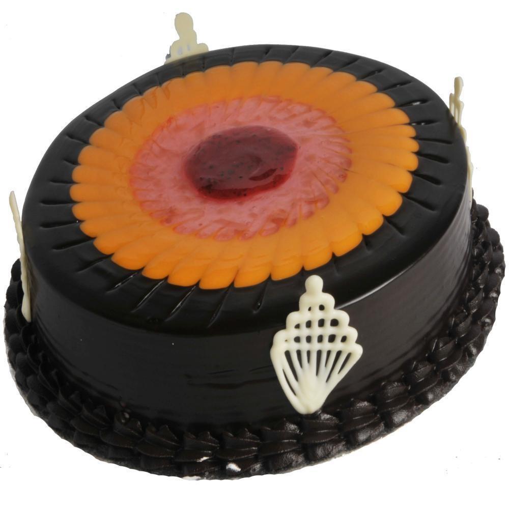 Duet swirl chocolate fruit cake