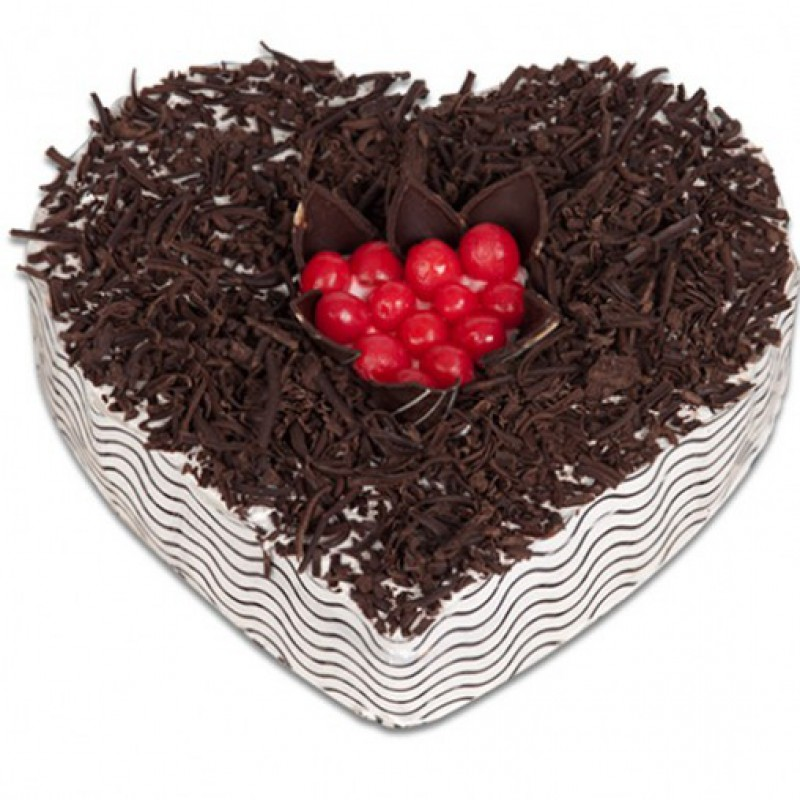 Black forest heart shape