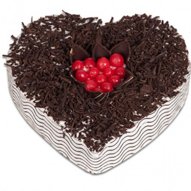 Black forest heart shape