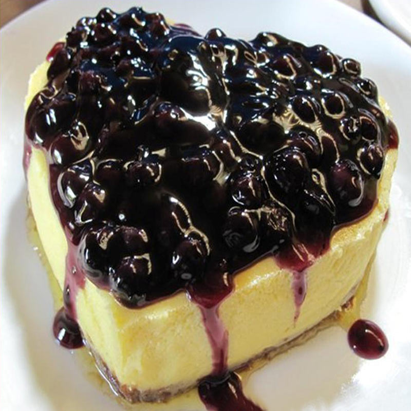 Blue berry heart shape cheese cake