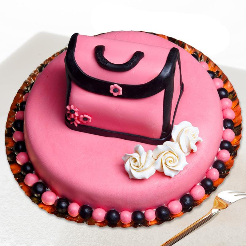 Designer hand bag cake