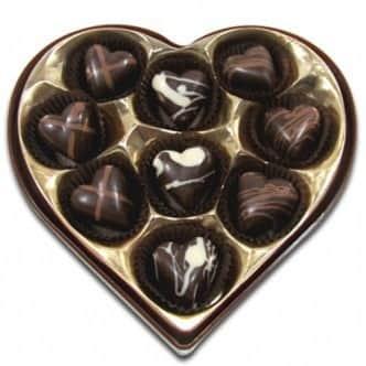 Chocolates hearts