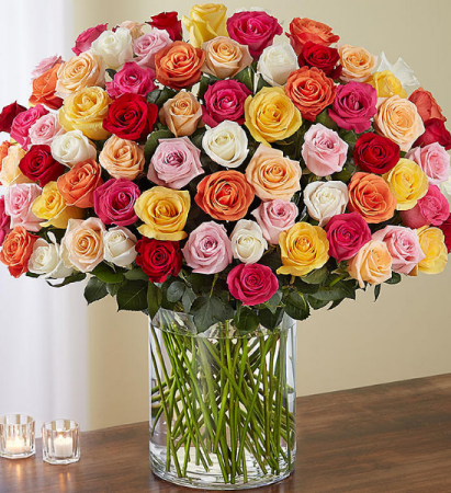 120 assorted rose