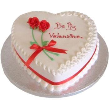 Vanilla heart shape cake