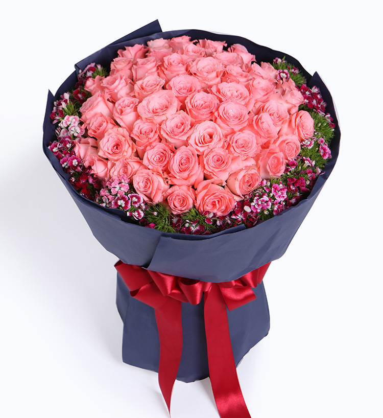 100 tender pink rose bouquet