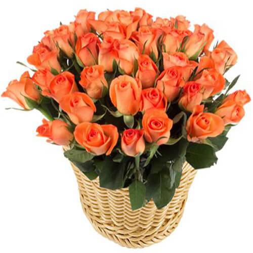 Basket of orange basket