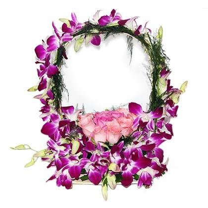 Purple flower basket