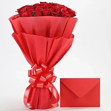 Red roses n greetings