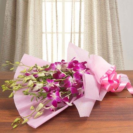 Tender purple orchids