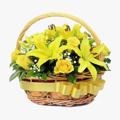 Magnificent yellow basket